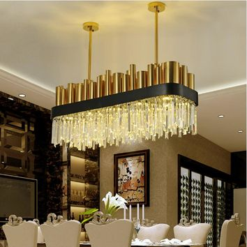 Restaurant Decoration Industrial Pendant Lighting Crystal Pendant Lamp LED Pendant Lights Kitchen Island Modern Pendant Light