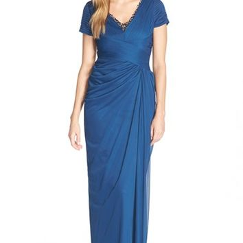 Women's Adrianna Papell Beaded Tulle Gown,