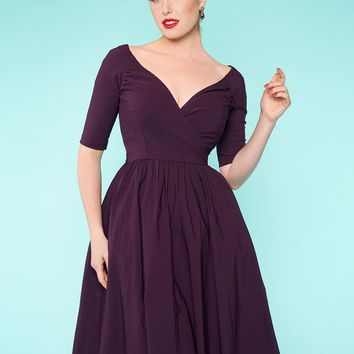 Loren Dress in Plum