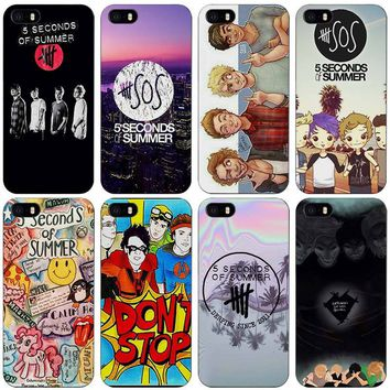 5 Seconds of Summer 5SOS Black Plastic Case Cover Shell for iPhone Apple 4 4s 5 5s SE 5c 6 6s 7 Plus