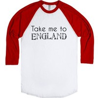 England-Unisex White/Red T-Shirt