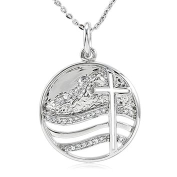 Move the Mountains Lord Sterling Silver Necklace