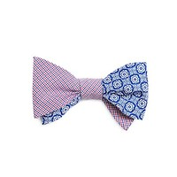 Men's Micro Tattersall with Floral Print Bow Tie