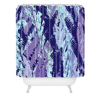 Rosie Brown Amethyst Ferns Shower Curtain