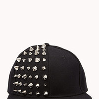 Spiked Panel Snapback Cap