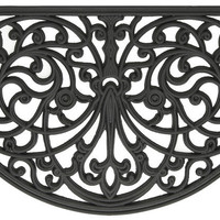 Park Avenue Collection Wrought Iron Rubber Mat Ironworks - 18x30