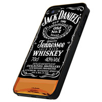 Jack Daniel's Whiskey - Print Hard Case iPhone 4/4s or iPhone 5 Case - Black or White Bumper (Option)
