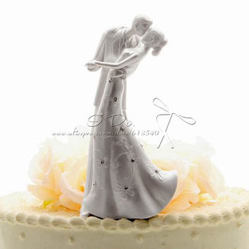 Free Shipping Classic Bride And Groom Wedding Cake Topper Cake Stand Wedding Cake Accessories Wedding Decoration Casamento