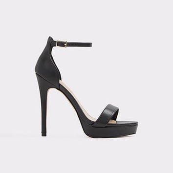 Madalene Black Women's Platform sandals | ALDO US