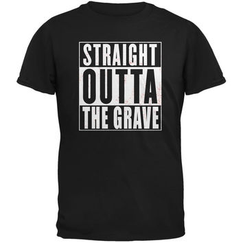 Halloween Straight Outta The Grave Black Adult T-Shirt