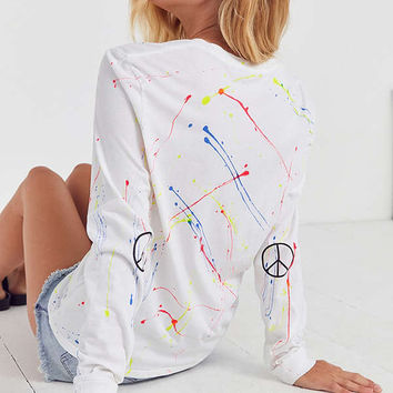 Future State Splatter Peace Long Sleeve Tee | Urban Outfitters