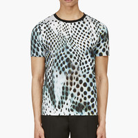 Paul Smith White And Black Digital Print T-shirt