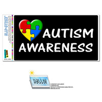 Autism Awareness - Puzzle Heart SLAP-STICKZ TM Premium Sticker
