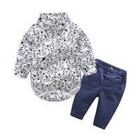 New Baby Boys Clothing Sets Newborn handsome Baby Clothing infant clothes Baby clothes sets Cotton Long Sleeve rompers+trousers