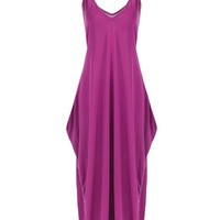 Purple V-neck Cami Dress