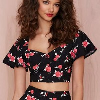 Nasty Gal Bed of Roses Crop Top