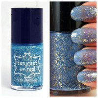 Greek Godess Jelly Nail Polish - Teal Base with Gold Flake