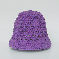 Infant  Purple  Hat  Baby Boy Violet Spring Cotton  Cap 6 To 12 Month Old  Girl Summer Lavender Lilac Beanie