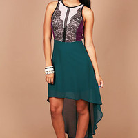 Midnight Lace Dress | Hi Lo Dresses at Pink Ice