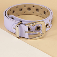 Pastel Purple Perforated Belt