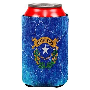 Nevada Vintage Distressed State Flag All Over Can Cooler