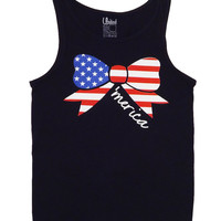 Ladies 'Merica Bow' Tank Top