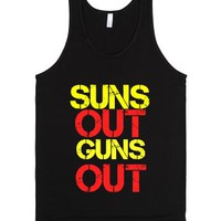 Suns Out Guns Out-Unisex Black Tank