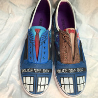 Dr. Who Hand Painted Shoes