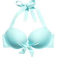 H&M - Super Push-up Bikini Top - Turquoise - Ladies
