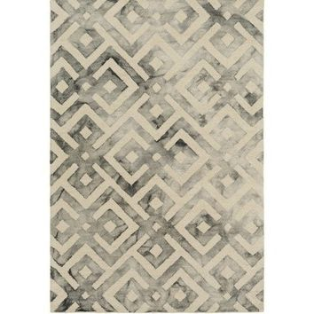 Lucas Geometric Watercolor Gray Rug