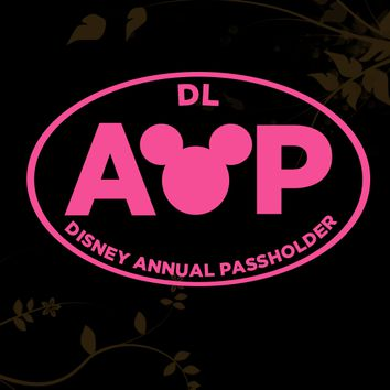 DL Disneyland Resort California Adventure Annual Passholder Decal for your Car, Walls, Laptops