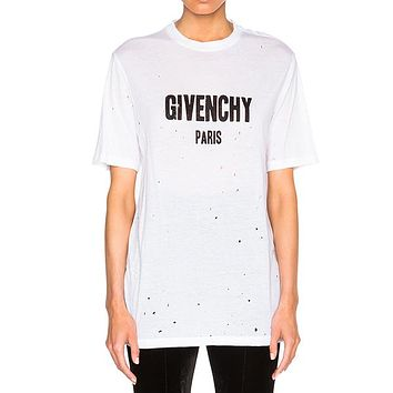 Givenchy Woman Men Fashion Hollow Tunic Shirt Top Blouse