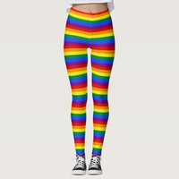 Leggings with Rainbow Pride flag of LGBT