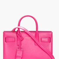 Saint Laurent Pink Calfskin Leather Sac Du Jour Mini Tote Bag