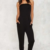 Strapless Than Zero Lounge Jumpsuit