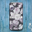 Chin Up Beautiful Cute Girl Quote Case Cover iPod Touch iPhone 4 4s 5 5s 5c 6 +