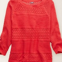 Aerie Women's Pullover Sweater (Pink Root)