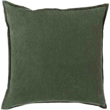 Cotton Velvet Pillow ~ Dark Green