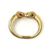 Goldtone Kissing Ram Bangle by Avon #huntersalley