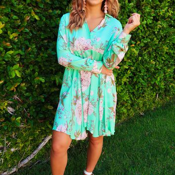 Here For Picking Tunic: Mint/Multi