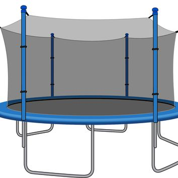 SkyBound 15 Foot Trampoline Net - Fits 15 Foot Frames with 6 Straight Enclosure Poles or 3 Arches