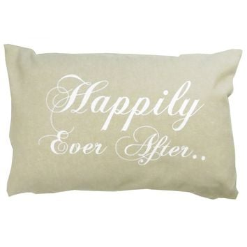 Park B. Smith ''Happily Ever After'' Throw Pillow (White)