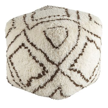 Denali Pouf ~ Dark Brown & Khaki