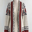 Folk Art Long Long Sleeve Red Rock Canyon Cardigan in Rust by ModCloth