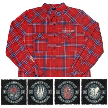 Vintage Flannel + Patch Bundle - All Time Low - Artists