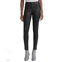 Rag & Bone/JEAN High Rise Skinny Coated Jeans