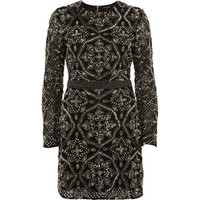 Black sequin embellished bodycon mini dress - Bodycon Dresses - Dresses - women