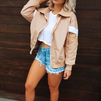 Handle It Jacket: Nude/White