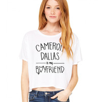 Cameron Dallas Cameron Dallas Is My Boyfriend Flowy Tee - BLV Brands