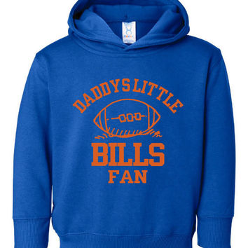 Adorable Toddler Youth BILLS Hoodie Daddys Little BILLS Fan Hooded Sweatshirt Great Gift for Child Fathers Day Toddler Infant Youth  Sizes